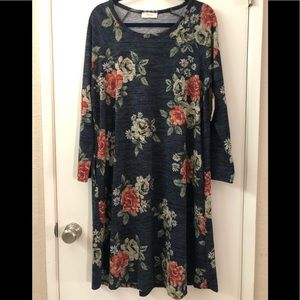 BE Stage Brand Floral Dress W/ Pockets NWT Large